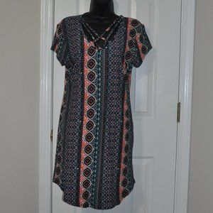 Large Derek Heart Multi Pattern Dress